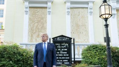 صورة ترامب في ورطة قبل الانتخابات الرئاسية الأمريكية 2020