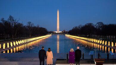 صورة شاهد: حفل تنصيب بايدن رئيسا للولايات المتحدة الأمريكية