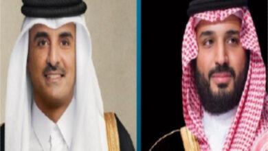 صورة ما فحوى اتصال أمير قطر وولي العهد السعودي؟