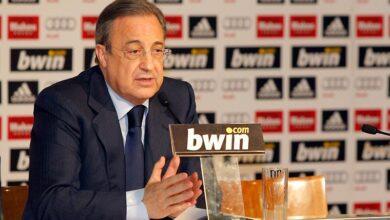 صورة إصابة رئيس نادي ريال مدريد فلورنتينو بيريز بكورونا