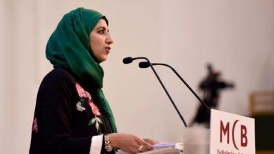 صورة انتخاب أول امرأة على رأس المجلس الإسلامي في بريطانيا