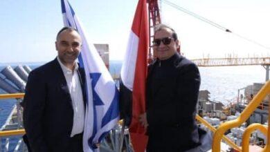 صورة اتفاق مصري إسرائيلي لبناء أنبوب بحري للغاز