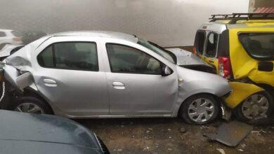 صورة شاهد: قبل الإفطار.. حادث تصادم مروع لسيارات في الجزائر