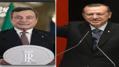 """صورة دراغي يصف إردوغان ب """"الدكتاتور"""".. وأنقرة تستدعي سفير روما"""