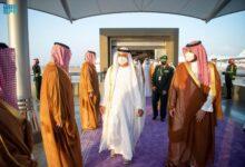 صورة شاهد: بن سلمان يستقبل محمد بن زايد في جدة