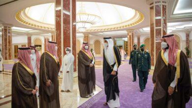 صورة ماذا يفعل أمير قطر في السعودية؟