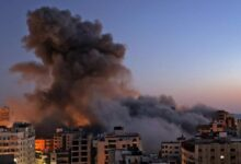 صورة شاهد: غارات إسرائيلية تستهدف مواقع لحماس في غزة