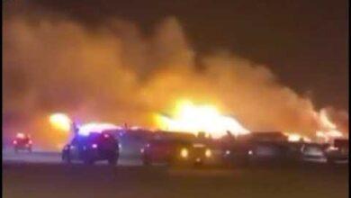 صورة فاجعة في جدة.. وفاة 8 فلسطينيين في حريق
