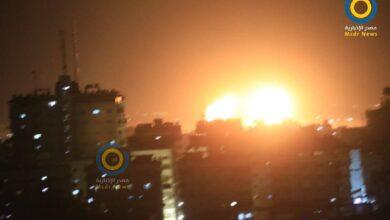 صورة شاهد: غارات جوية إسرائيلية تستهدف أهدافا في غزة
