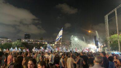 صورة شاهد: احتفالات عارمة في إسرائيل بالإطاحة بنتنياهو