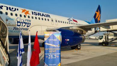 صورة إقلاع أولى الرحلات الجوية المباشرة بين إسرائيل ومراكش