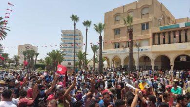 صورة شاهد: مظاهرات عارمة في تونس للمطالبة بتغيير النظام وحل البرلمان