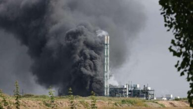 صورة شاهد: قتلى في انفجار بمنشأة كيميائية بألمانيا