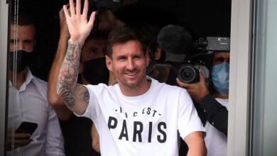 صورة شاهد: ميسي يصل إلى باريس
