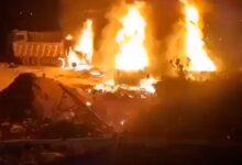 صورة شاهد: قتلى وجرحى إثر انفجار صهريج وقود في لبنان