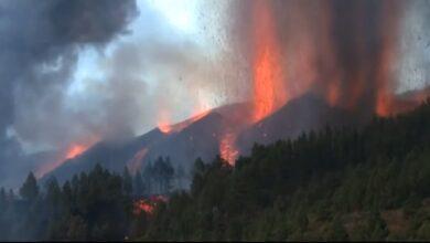 صورة شاهد:  ثوران بركان في إسبانيا